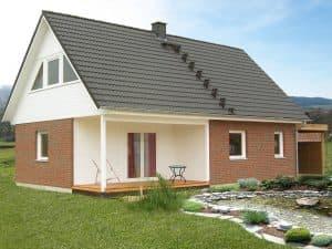 Holzrahmenbau Terrasse Fertighaus