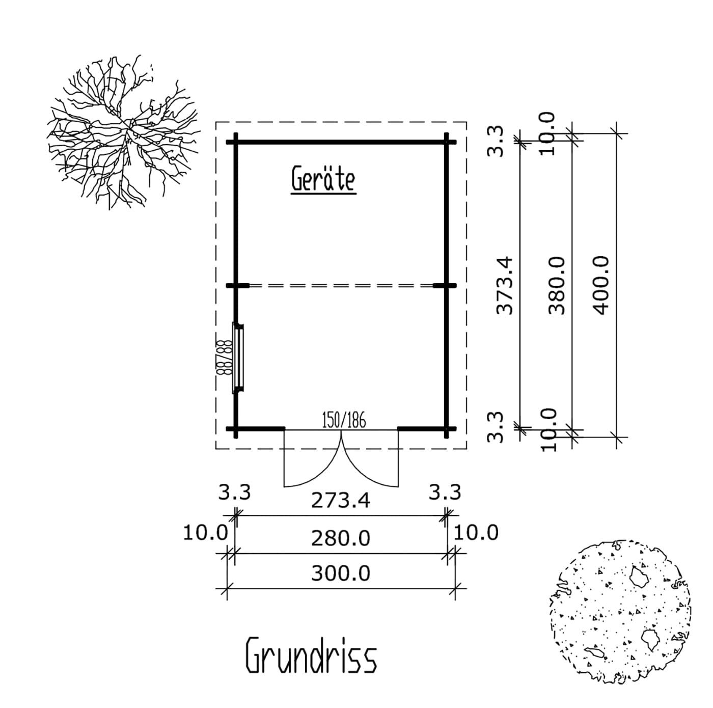 Z:MusterhäuserAusstellung LaheTonnenhaus 3,00x4,00m 2012Ton