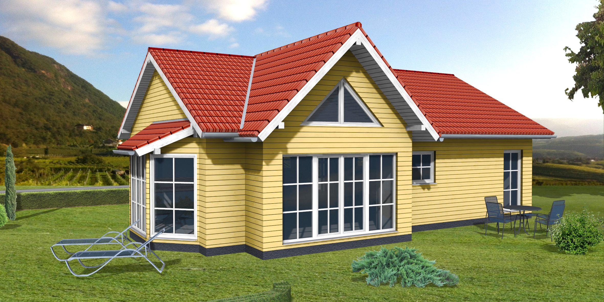 3D-Animation Rendering Wohnhaus
